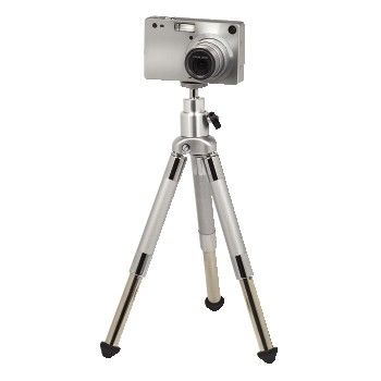 A close up of a tripod  Description automatically generated